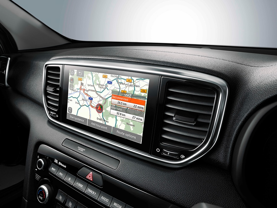 "Kia Sportage 8"" satellite navigation with telematics"