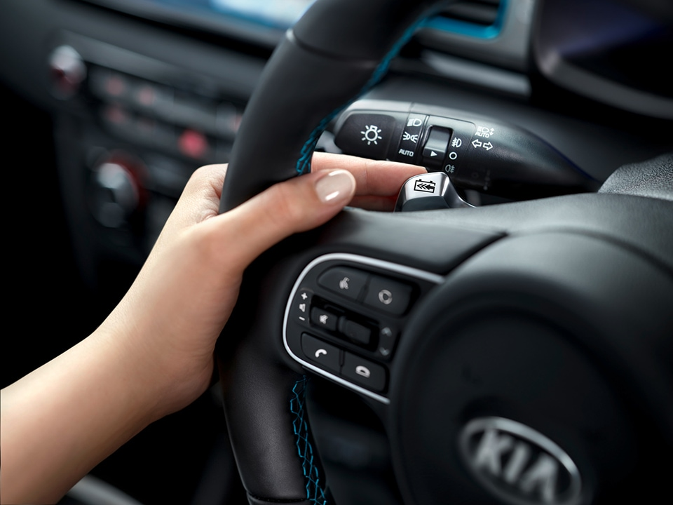 Kia e-Niro changing breaking on the steering wheel