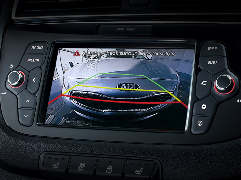 Kia cee'd GT rear view camera for reverse parking dashboard console