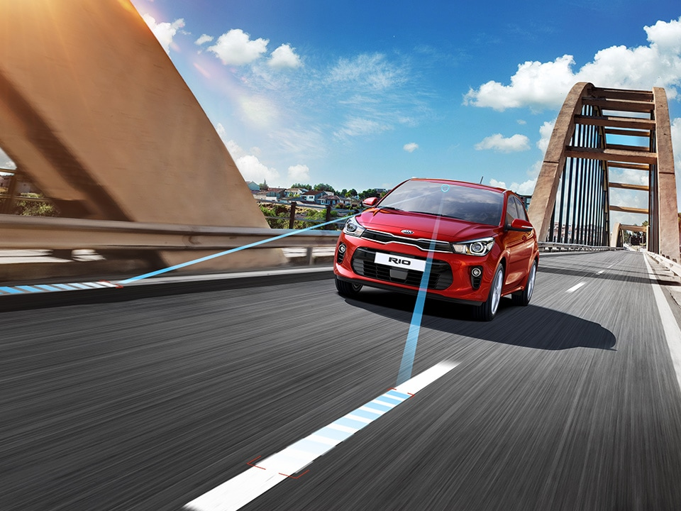 Kia Rio sensors detecting white lane markings