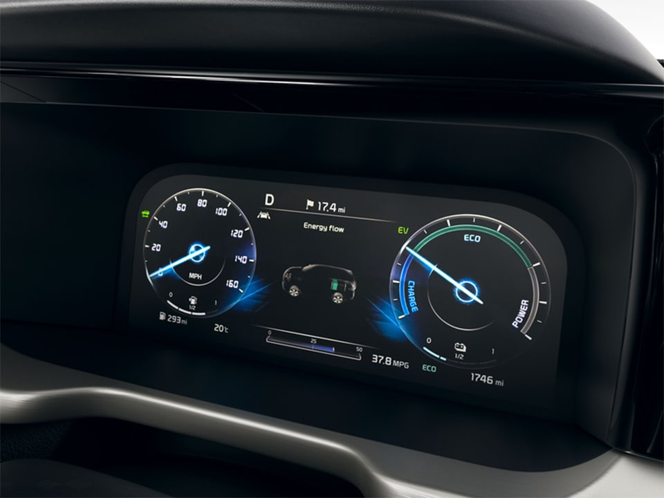 All-new Kia Sorento Hybrid instrument cluster