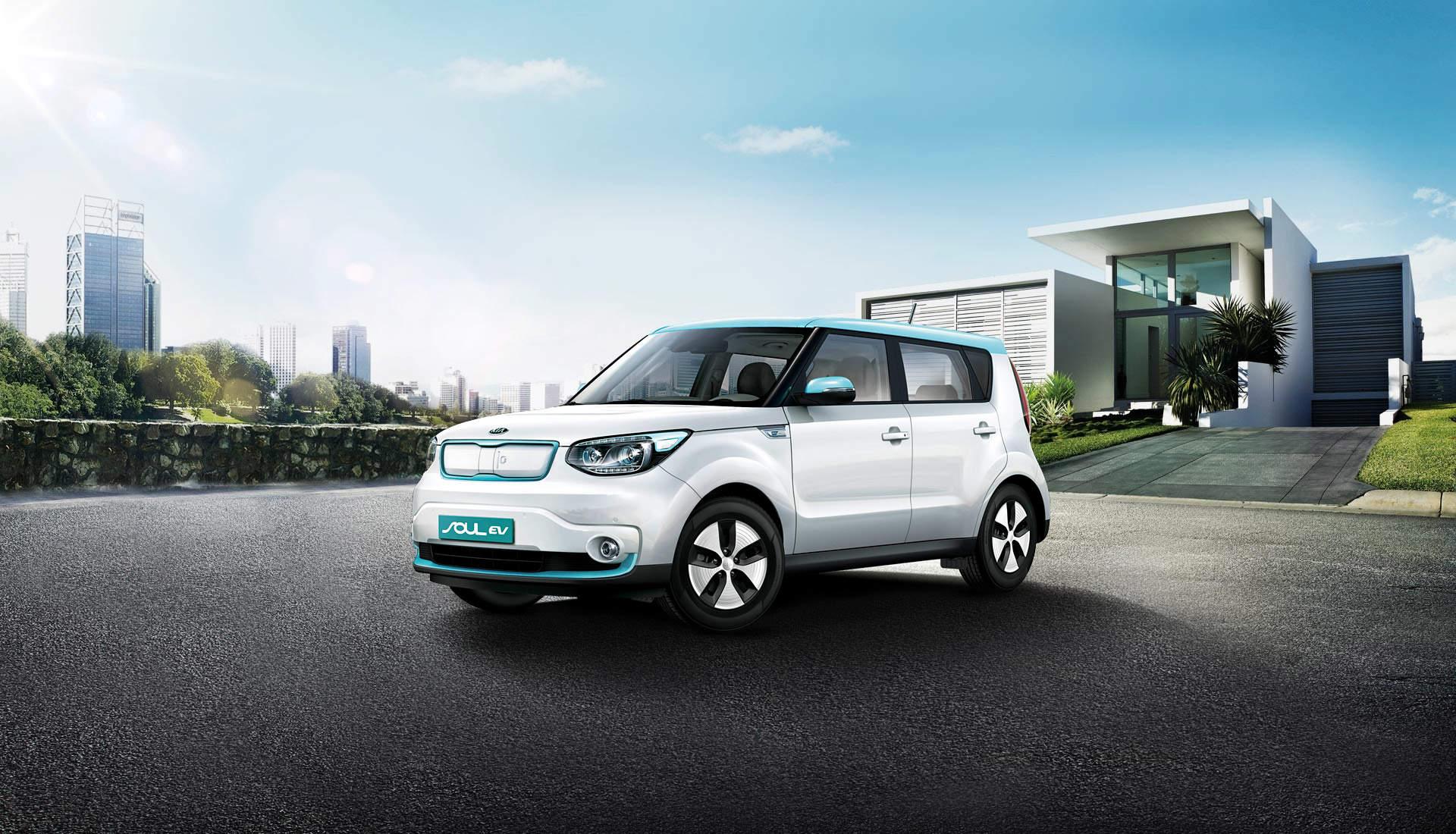 The Kia Soul Ev Electric Car