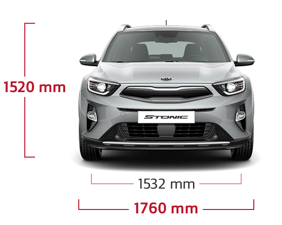 Kia Stonic front view width