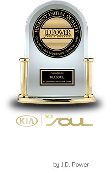 2016 SOUL - 'Highest Ranked Compact Multi-Purpose Vehicle In Initial Quality in the U.S. Two Years In A Row' by J.D. Power