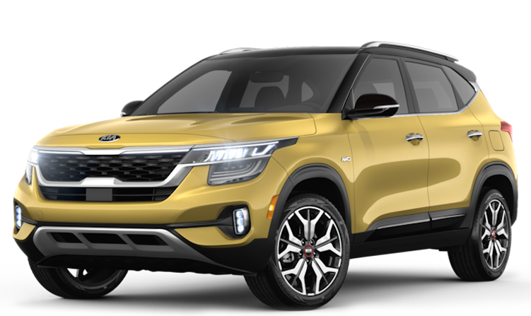 Adventure-Ready Kia Seltos in Golden Yellow