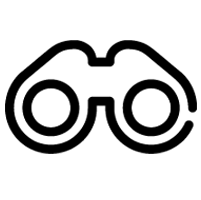 Binoculars Icon For Section About Inventory Search