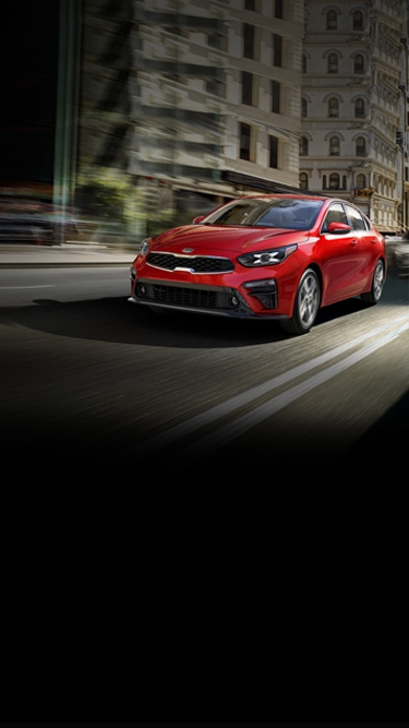 All-new 2019 Kia Forte compact sedan in red