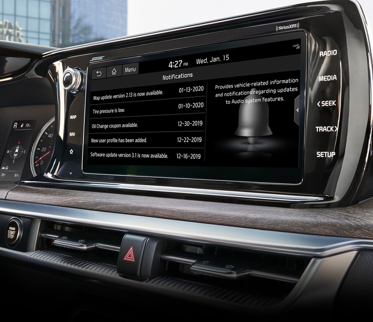 2021 Kia K5 In Vehicle Notification Center