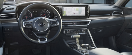 2021 Kia K5 Interior 10.25-Inch Touchscreen With Stylish Controls