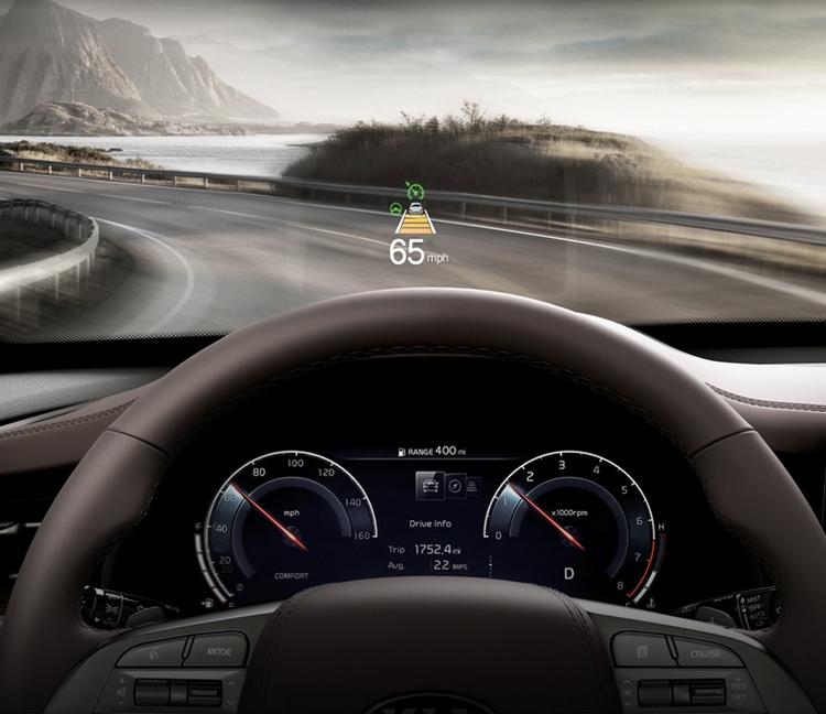 2020 Kia K900 Head-Up Display