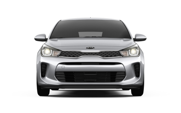 Front grille black mesh on the 2018 Kia Rio 5-Door