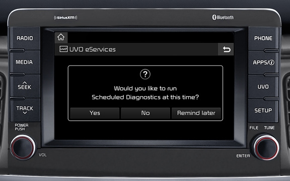 "UVO eServices w/ 7"" Touch-Screen Display and SiriusXM® Satellite Radio"