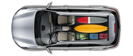 122 cubic feet of cargo space in the Kia Sorento