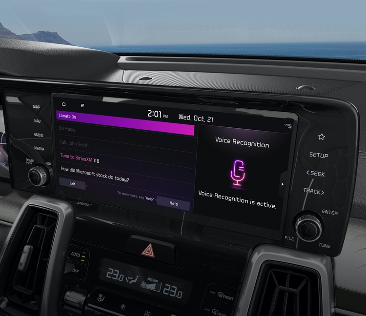 2021 Kia Sorento Vehicle Voice Control Feature