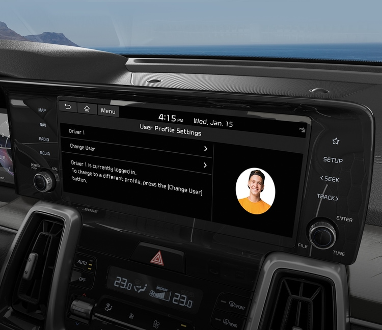 2021 Kia Sorento Connected User Profile
