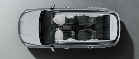 2021 Kia Sorento Smart Airbags Top View