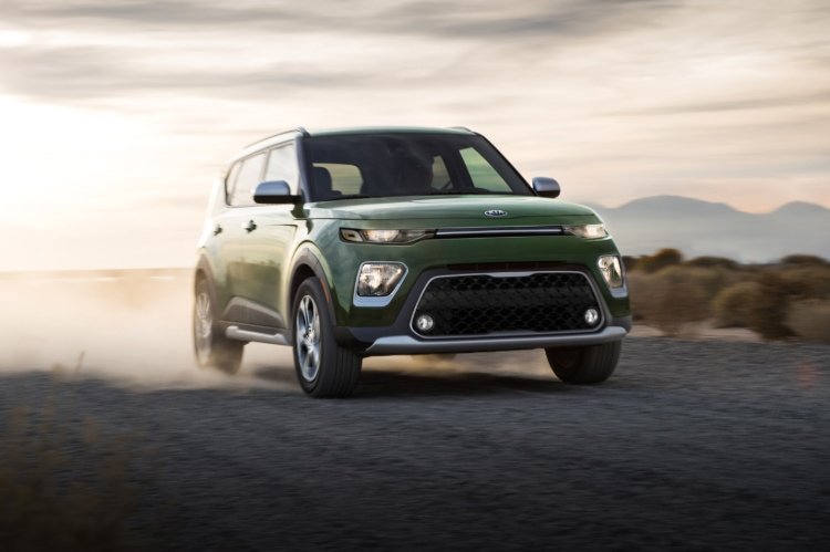 2021 Kia Soul Undercover Green Exterior Driving