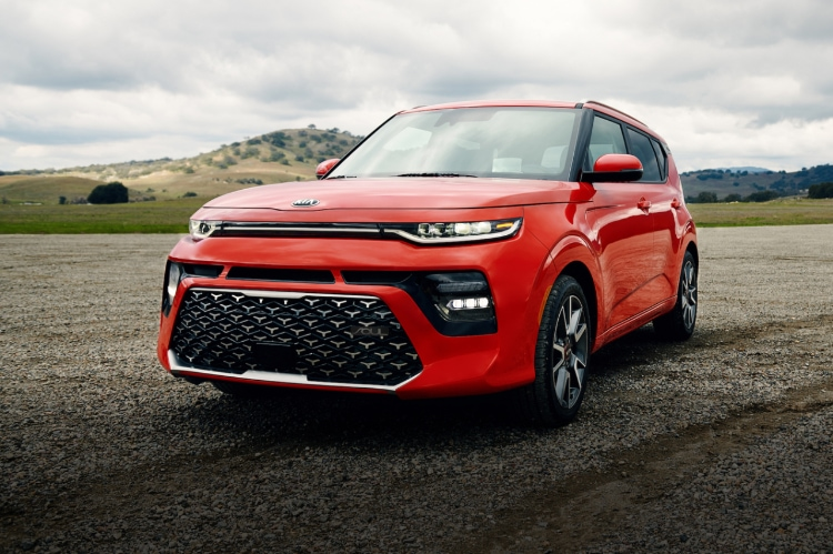 2021 Kia Soul Mars Orange Exterior Three-Quarter View