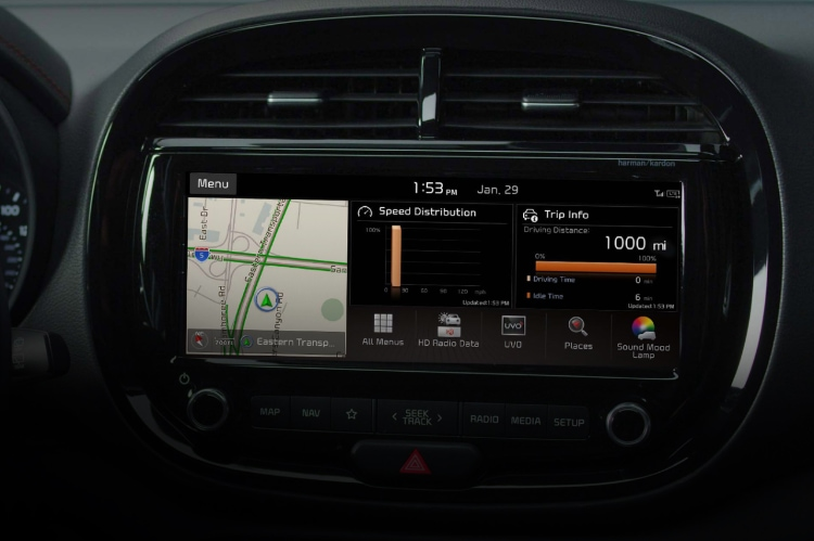 2021 Kia Soul Touchscreen Navigation