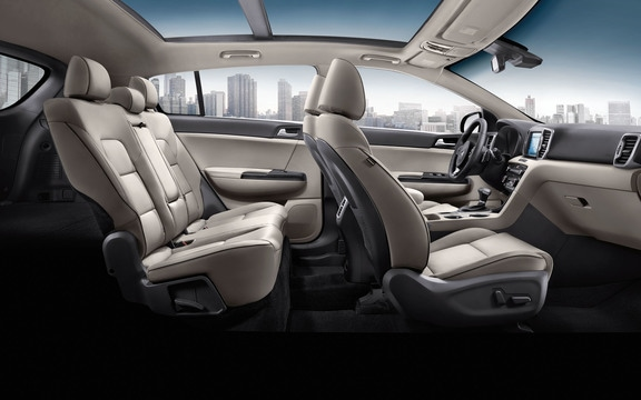 Leather seat trim in the 2019 Kia Sportage option