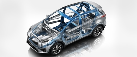 2021 Kia Sportage High Strength Steel Structure